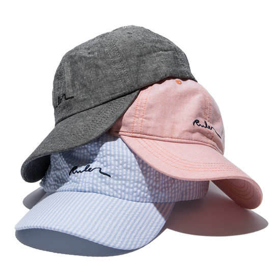 RULER(ルーラー) プレップキャップSUMMER PREP CAP(CORAL PINK/BLUE STRIPE/BLACK) ●CPH RULER2019春夏/190430