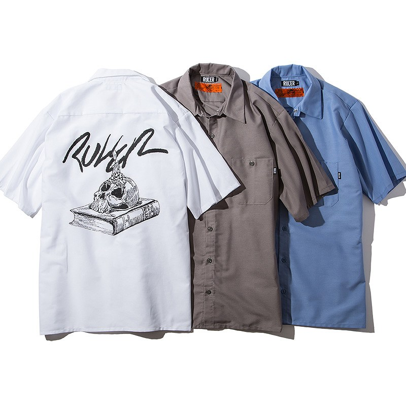 30%OFFSALE!!タイムセールRULER(ルーラー) 半袖シャツSOB REDKAP SS WORK SHIRTS(White, Sax, Charcoal) ●SHT RULER2019夏/190622
