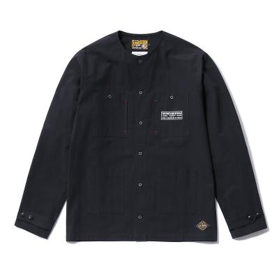 CLUCT クラクト ノーカラーシャツ NO COLLOR SHIRT  (BLACK) ●SHT CLUCT2019SPRING/190506