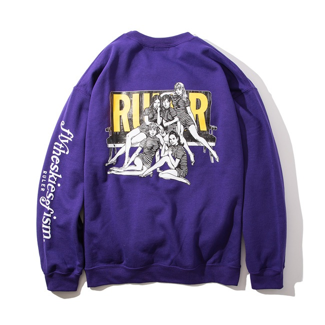 RULER(ルーラー) スウェットFLY SWEAT SHIRTS(LIGHT BLUE/PURPLE/BLACK) ●SWP RULER2019秋冬/190927