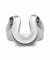 CRIMIE(クライミー) レターリボンホースシューリング SLETTER RIBBON HORSE SHOE RING SMALL(SILVER) ●ACC CRIMIE2019定番