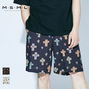 【予約商品】 MSML/CROSSES WIDE SHORTS/M11-02A1-PS02 MSML2021SS